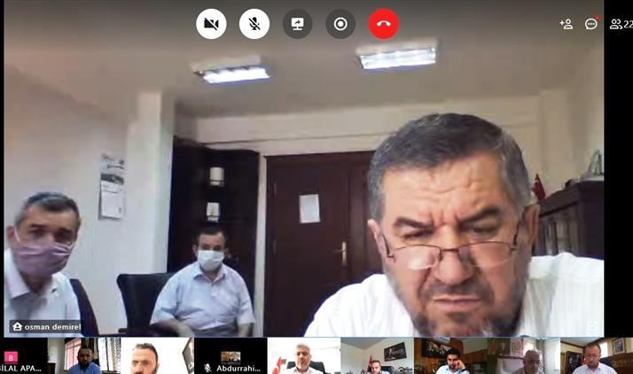 Antalya'da Yaklaşan Ramazan Bayramı öncesinde Ilçe Müftüleri Ile Telekonferans Yöntemiyle Toplantı Gerçekleştirildi