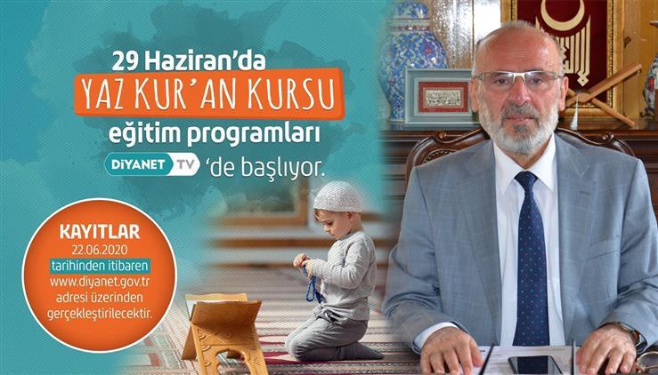 Konya'da Yaz Kur'an Kursları Diyanet Tv üzerinden Uzaktan Eğitim Yoluyla Yapılacak