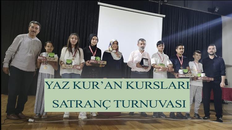 """Osmaniye'de Yaz Kur'an Kursları """"satranç Turnuvası"""""""