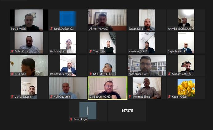 Mersin'de Yenişehir Müftülüğü çalışma Grup Başkanları Ile çevrimiçi Istişare Toplantısı Yapıldı
