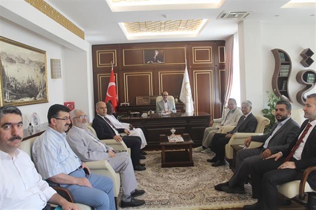 Gaziantep'de Zehra üniversitesi Ve Elmedine üniversitesinden Müftülüğümüze Ziyaret