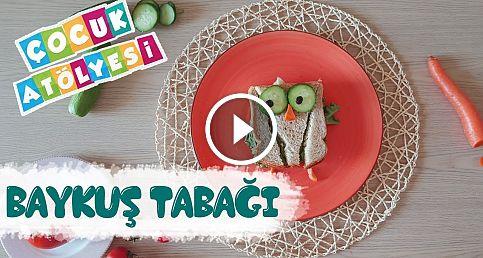 Baykuş Sandviç Tabağı | Çocuk Atölyesi